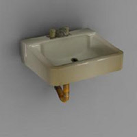 Rusty Sink Low Poly Game Model