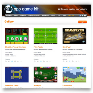 AGK Gallery for your mobile games