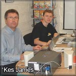 Kes James (left) with Lee sneaking into the photo :)