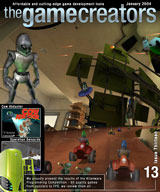 The Game Creators Newsletter Issue 13 - click for a larger cover image