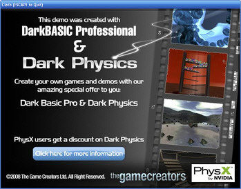 PhysX demos created with DarkBASIC Professional and Dark Physics