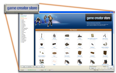 The Game Creator Store - 3D models and media