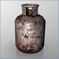 3D Game Model - Gas Canister