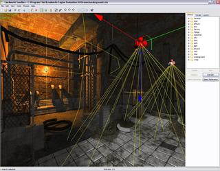 Leadwerks Engine - Sandbox Editor indoor scene