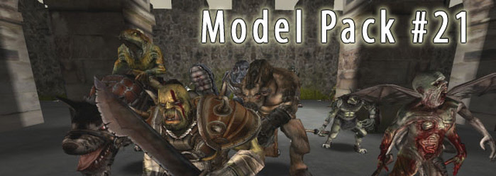 Model Pack 21 for FPS Creator