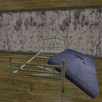 3D model - Rusty old bed