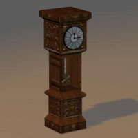 Animated Clock 3D Model