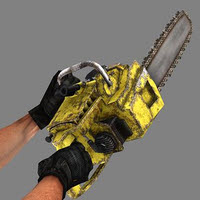 Chainsaw Weapon for 3D Game Development