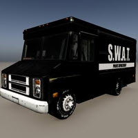 Swat Van 3D Low Poly Model