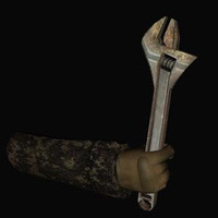 Spanner Model Weapon for 3D Games