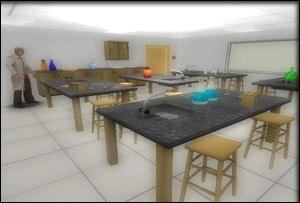 Back to School - chemistry lab for 3D games