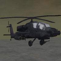 Helicopter Low Poly Game Model