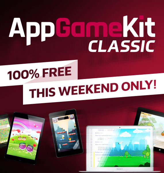 AppGameKit - AppGameKit Classic FREE for 1 day on STEAM!
