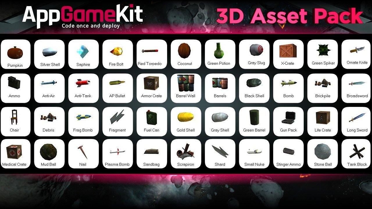 AppGameKit - AppGameKit - 3D Asset Pack